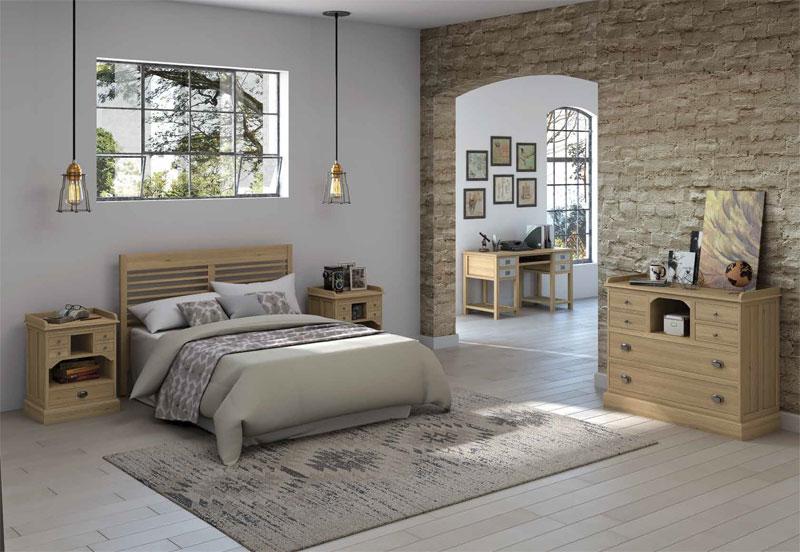 Dormitorio Completo 5 Piezas Roble Darkera