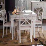 mesa salon blanca clasica