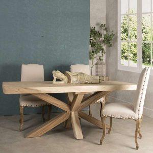 Mesa para el comedor madera maciza y sillas | Artesania y Decoración ...