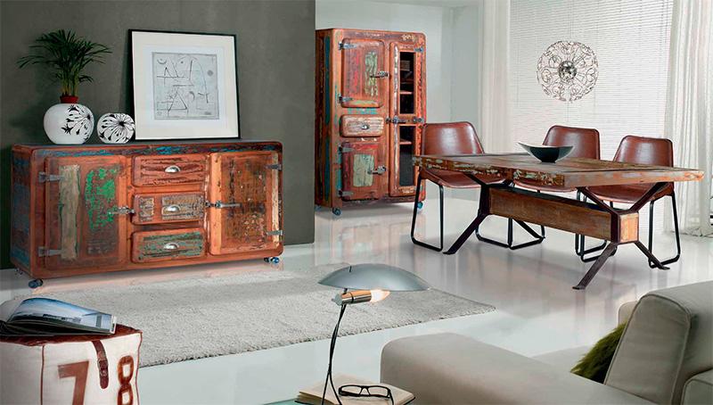 muebles comedor rusticos decolorados | Artesania y Decoración | Blog