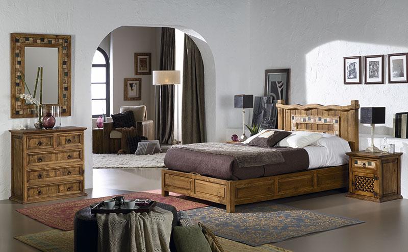 Decorar Dormitorio Rustico Matrimonio : Dormitorio rustico mexicano madera y marmol para matrimonio