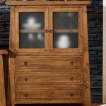 alacena vitrina rustica madera maciza