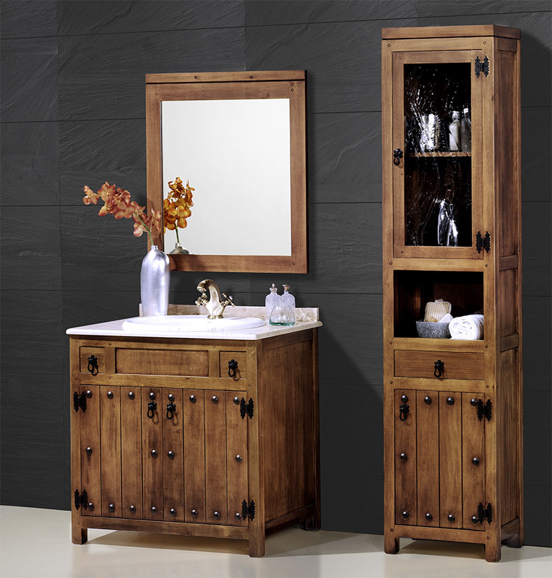 Muebles de ba o rusticos artesania y decoraci n blog for Muebles de bano de madera rusticos