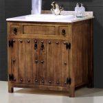 Mueble lavamanos estilo rustico 2 puertas