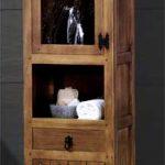 Estanteria armario estilo rustico para el baño