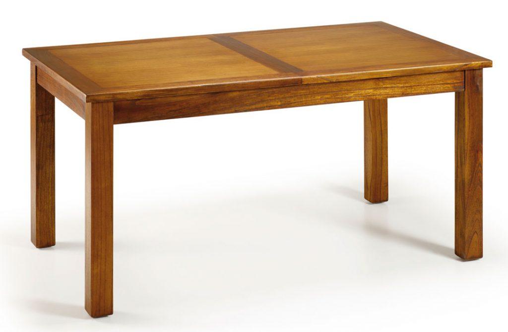 mesa comedor estilo colonial madera de mindi extensible