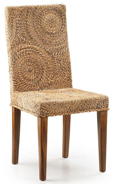 silla rattan banaa circulos, silla estilo colonial con circulos