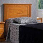 Cabecero cama de pino miel para el dormitorio