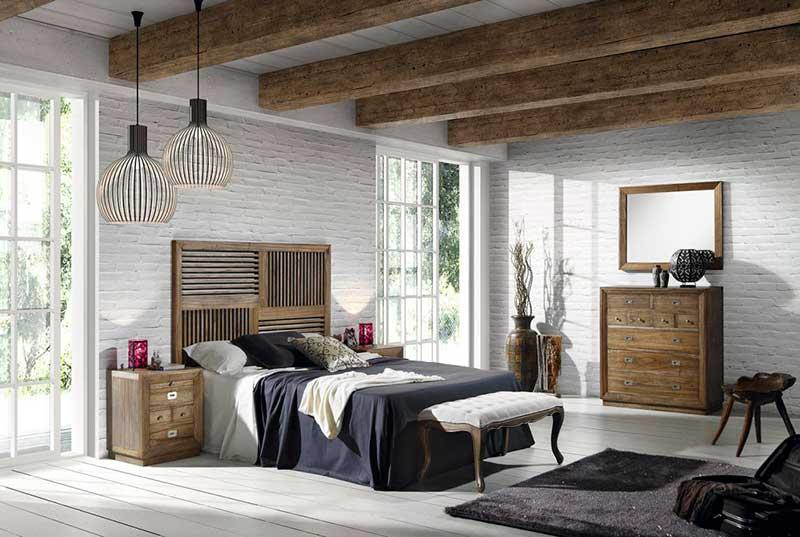 Dormitorio Completo colonial estilo actual Merapi