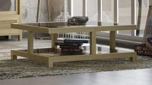 Mesa de centro estilo nordico roble