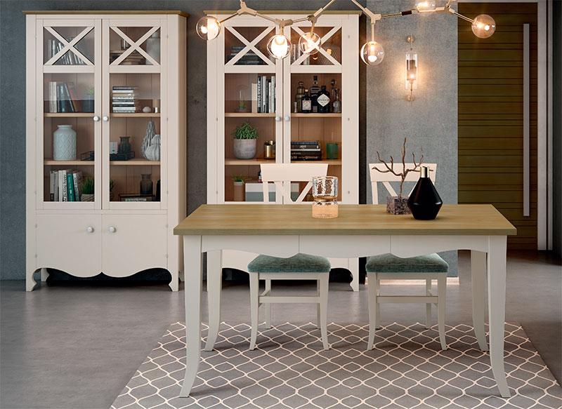 Muebles para el comedor en blanco provenzales