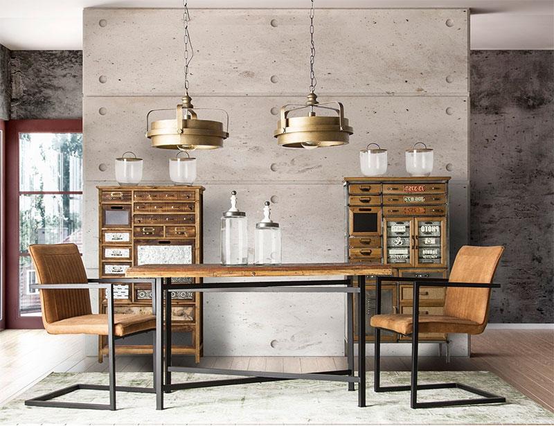Salon-comedor-estilo-rustico-vintage