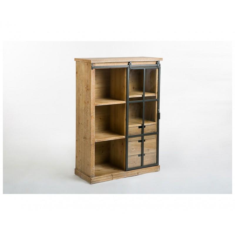 vitrina madera metal industrial niciak