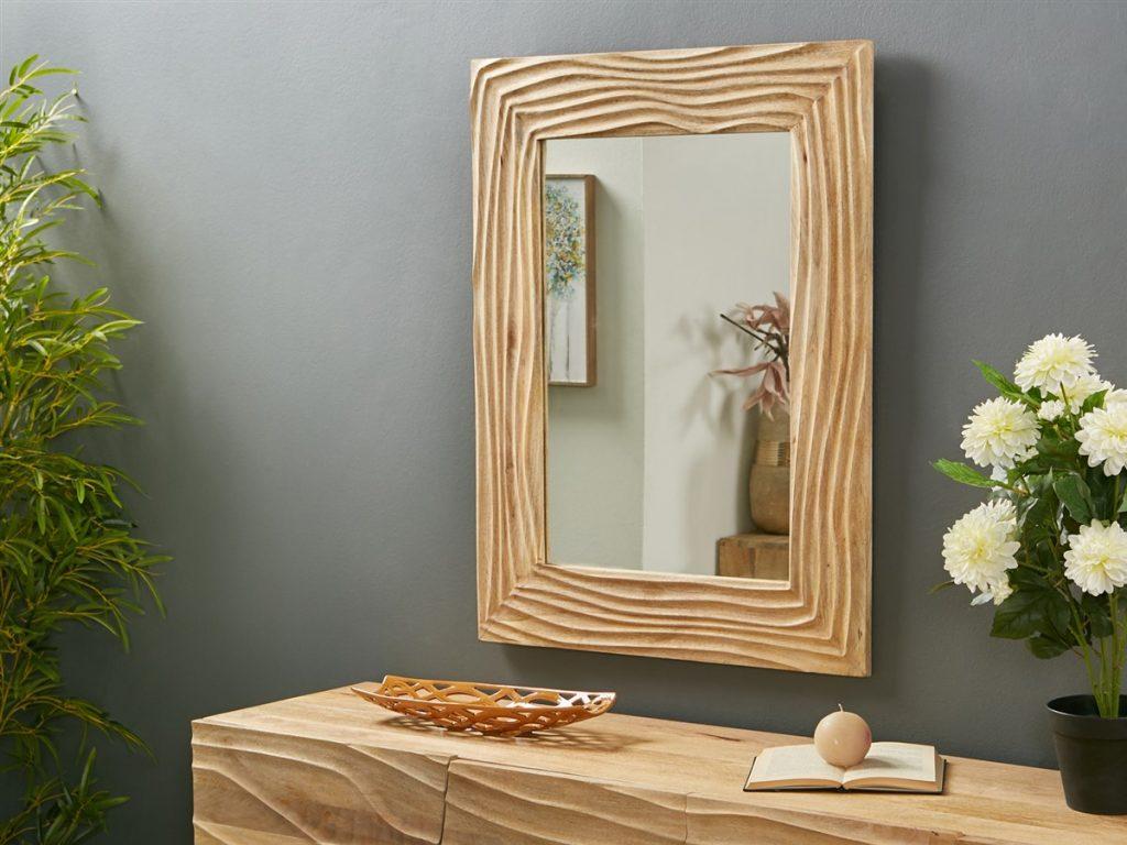 Espejo labrado madera mango