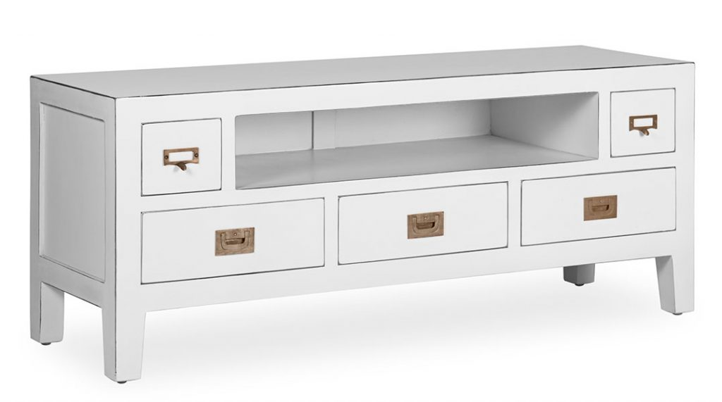 Mueble bajo banco color blanco Everest