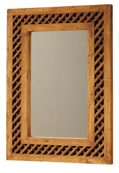 Espejo rejilla rustico