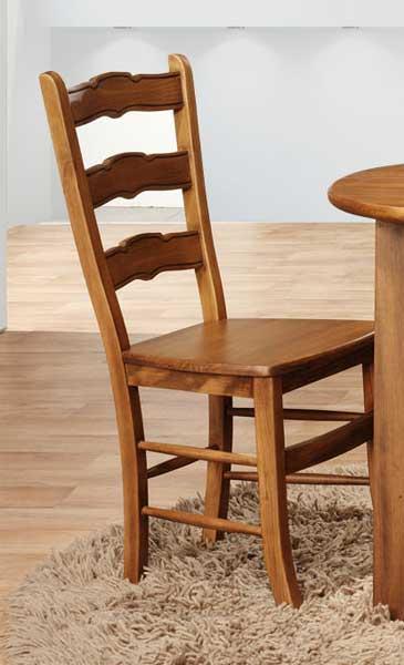 Silla salon rustica asiento madera