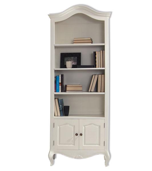 Libreria clasica blanca