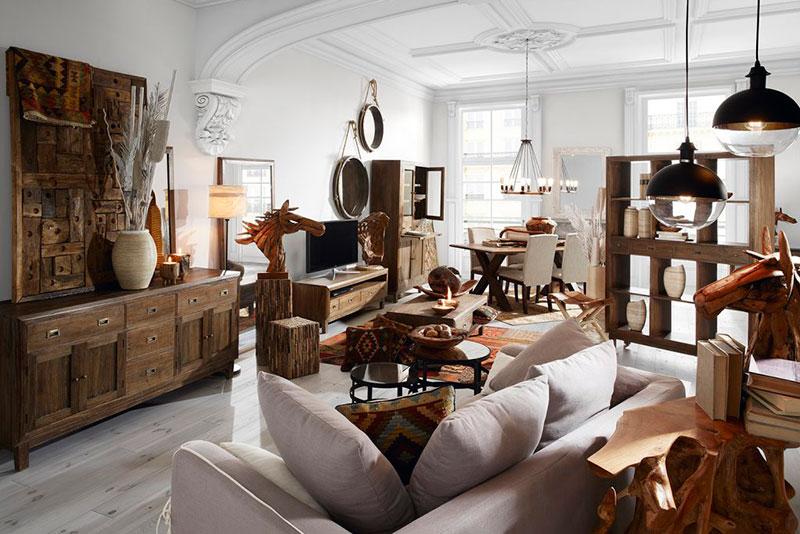 Muebles comedor rustico serie Sindoro