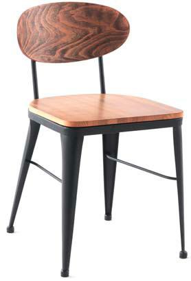 silla comedor madera forja