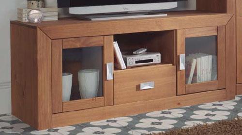Mueble TV 2 puertas rustica actual