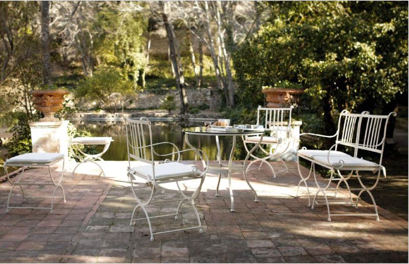 Conjunto mesa y sillas forja Madrid