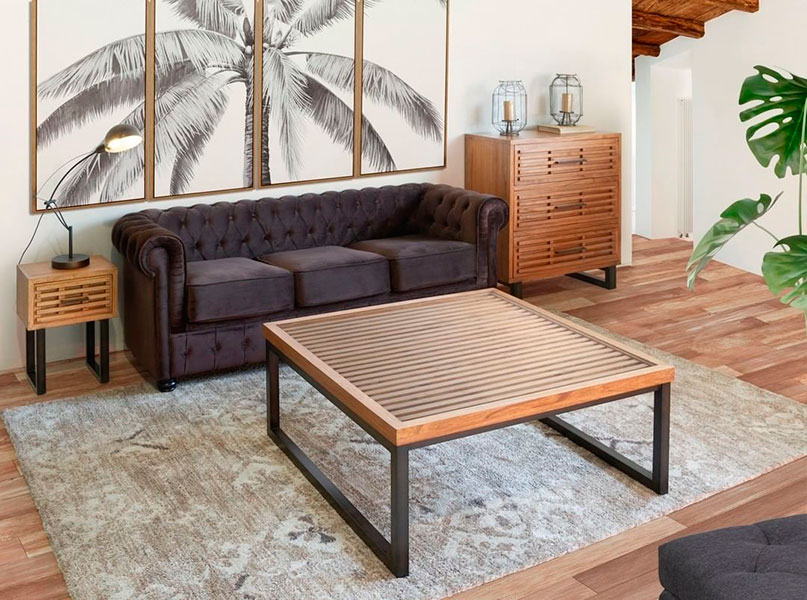 Sofa y mesas salon Industrial actual