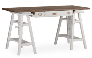 Mesa escritorio colonial bicolor
