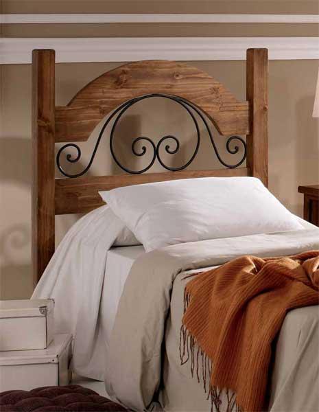 Cabecero dormitorio juvenil rustico