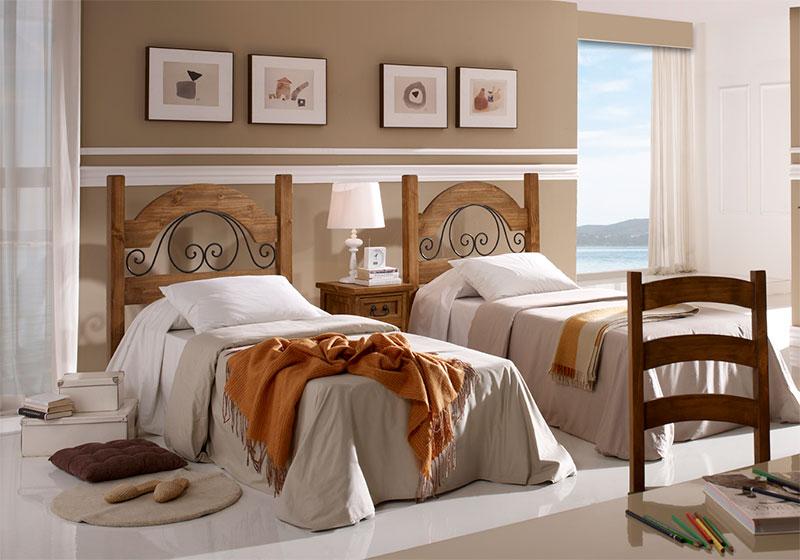 Dormitorio Juvenil Rustico
