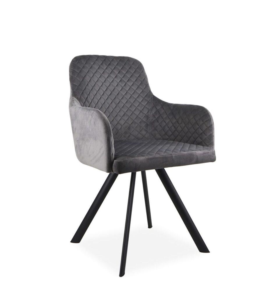 Sillon tapizado gris industrial