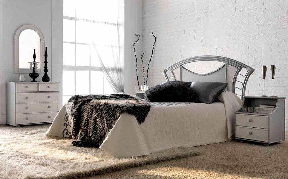 Dormitorio rattan formas