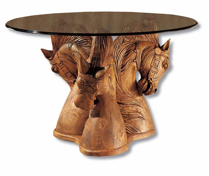 Mesa tallada clasica rustica