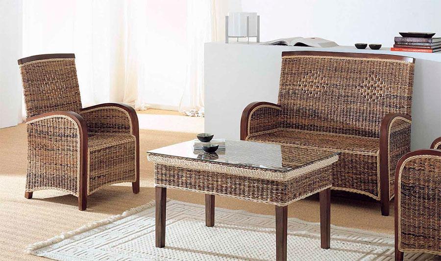 Sofa mesas sillones rattan