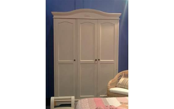 Armario 3 puertas dormitorio clasico blanco decape paris - Armarios clasicos dormitorio ...
