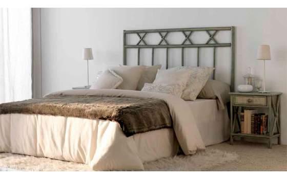 Cabecero palos macizos de rattan para camas de 90 a 180 cm - Cabeceros de mimbre ...
