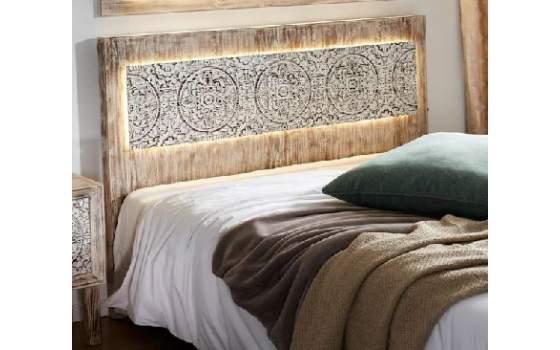 Cabecero para cama de 150 rustico casandra - Cabeceros de cama rusticos ...