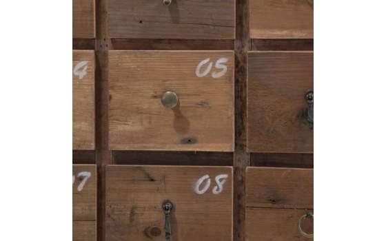 Cajonera Numeros Rustica Perth, mueble cajones decoracion numeros
