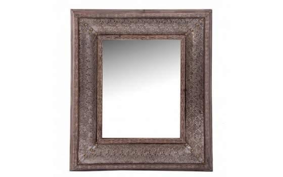Espejo madera con repujado en aluminio silver - Aluminio espejo ...