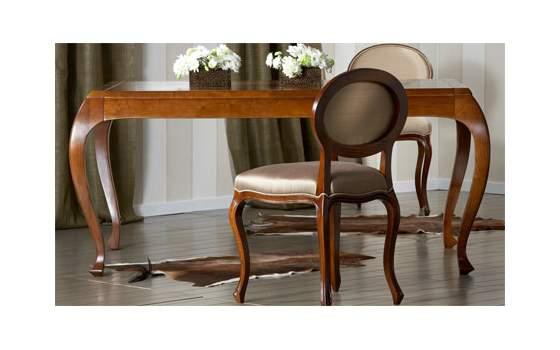 Mesa comedor clasica extensible madera maciza alta calidad
