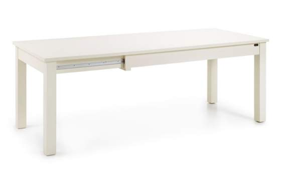 Mesa Comedor Colonial Extensible en Color Blanco Serie New White