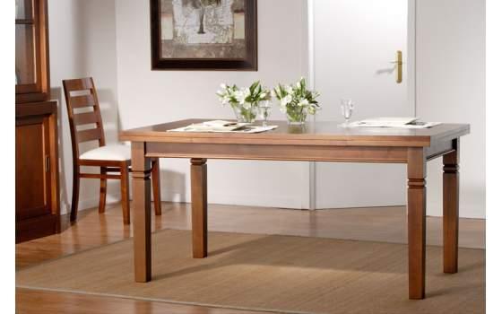 Mesa Comedor Colonial Rectangular Extensible 2 Tamaños Avesgo