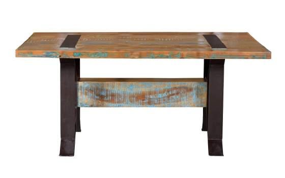 Mesa bodega y salon industrial madera forja reciclada