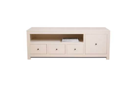 Mueble Television Colonial Color Blanco Ivory