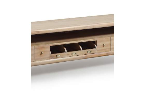 Mueble TV 5 Cajones Estilo Colonial Actual Serie Bromo