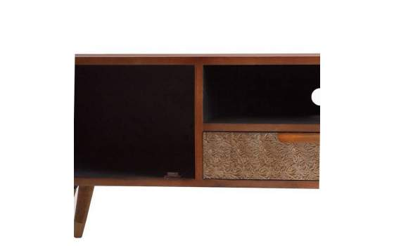 Mueble TV en Aluminio Repujado Estilo Actual Serie Goldt