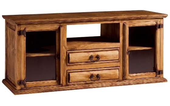 Mueble tv rustico troncos adis for Muebles con troncos