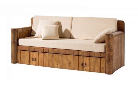 Sofa cama rustico con cojines - Sofas con cajones ...