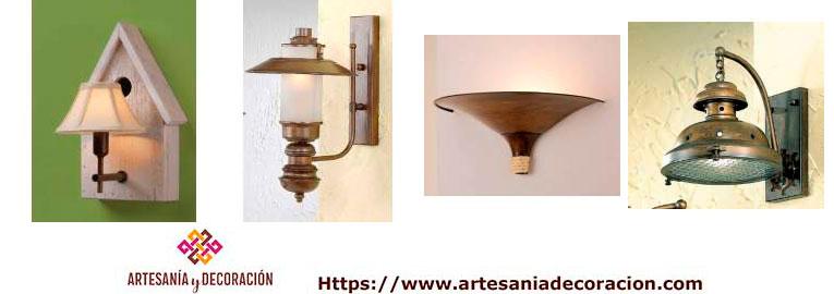 Apliques de iluminacion estilos rusticos y coloniales lamparas para la pared dise os unicos - Apliques rusticos pared ...