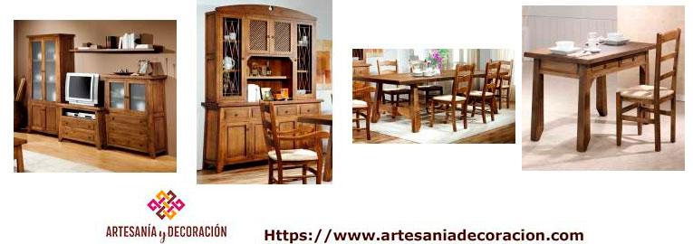 Mueble rustico madera maciza for Muebles salon madera maciza